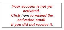 account not active
